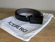 Iceberg Black patent leather belt used once size 40