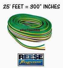 REESE TRAILER WIRE 16 GUAGE BONDED 4-WAY hitch wiring harness tail brake light
