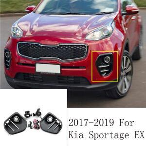 2017 - 2019 For Kia Sportage EX Bumper Fog Light Kit w/ Wiring Switch Bezel