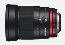 New Samyang 35mm F1.4 Wide Angle UMC Lens for Canon EOS - Warranty