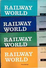Various Issues of RAILWAY WORLD Magazine from January 1964 to December 1965