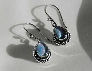 ✨FIERY✨ 6g sterling silver SUARTI 925 triplet opal gemstone drop dangle earrings