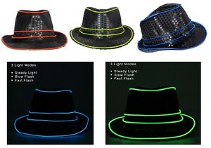 Halloween LED Light Up Cap Hat Flashing Hats Halloween Party Festivals Concerts