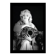 MARILYN MONROE LUTE 13x19 FRAMED GELCOAT POSTER ICONIC MODEL BEAUTY GIFT NEW!!!!