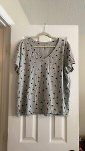 Lucky Brand Women's T-shirt 2XL Gray with Stars