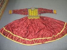 Vintage Silk Beadwork Embellished Tribal Afghan Folk Dress Kuchi tribal dress