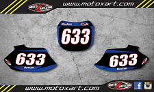 Custom number plates for yamaha YZF250 1998 1999 2000 2001 2002 stickers decals