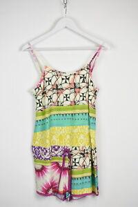 DESIGUAL OVERALL BOTANICAL STRIPES Women's L/XL Multicolored Jumpsuit 11972 mm