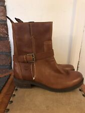 Timberland Women's Leather Ankle Boots Size UK4, EU37, US6W Tan