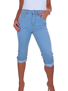 Womens High Rise Crop Jeans Straight Leg 3/4 Length Denim Capri MARKED Size 18