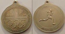 COLLEZIONISMO GIOCHI OLIMPICI commemorazione MEDALLION-Mosca Decathlon con loop