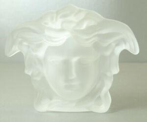 Medusa Halbkopf in Kristallglas - kristall/satiniert L7,8cmxB10cmxH3,4cm - AE928