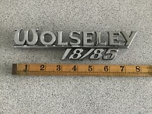 WOLSELEY RARE 1960s. WOLSELEY 18/85 GENUINE J'FRAY CHROME BOOT BADGE!!! EC.