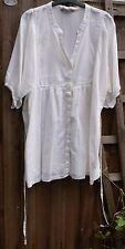 Evie Size 22 100% Cotton Very Pale Cream Top