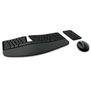 Microsoft Sculpt Ergonomic Desktop Keyboard And Mouse - Wireless - BlueTrack Ena