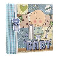"Baby Boy Blue  Memo Slip In Photo Album 200 6""x4'' Photos Ideal Gift AL-9772"