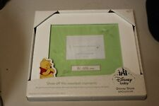 """Winnie the Pooh Baby Picture Frame Holds 4"""" x 3"""" photo Disney Store Exclusive"""