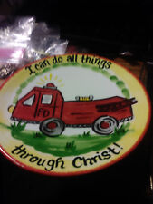 SMALL PLATE I CAN DO ALL THINGS THROUGH CHRIST BY YOUNGS INC NEW NO BOX