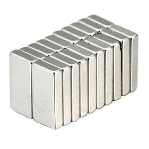 20Pcs N52 Super Strong Block Rare Earth Neodymium Small Magnet 10X5X2mm Magnets