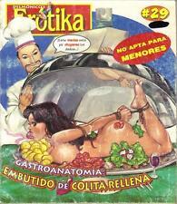 DELMONICOS EROTIKA EMBUTIDO DE COLITA RELLENA mexican comic SEXY GIRLS SPICY #29