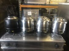 More details for 4x buffalo  soup kettle  hinged lid catering commercial
