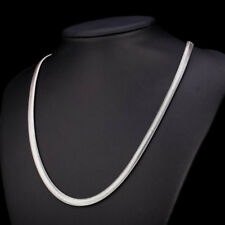 """6mm Charm Men Women Stainless Steel Silver Tone Snake Necklace 19.65"""" Link Chain"""