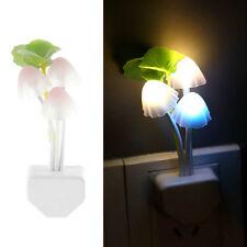 LED Sensor Mushroom Lotus Light Bedroom Night Lamp US Plug + AU Converter B1