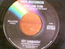"GUY LOMBARDO 45 RPM ""Auld Lang Syne"" ""Hot Time in the Old Town Tonight"" VG cond"