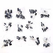 120pcs 12 Values 1uF - 470uF Assorted Electrolytic Capacitors Assortment Kit