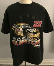 NASCAR Ward Burton #22 CAT Car Men's Black T-Shirt Size: 2XL