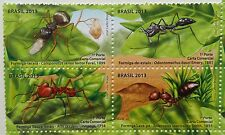 Brazil stamp - set of 4 stamps - 2013 - Ants Brasil - ant insect - MNH