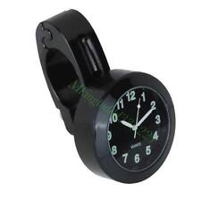 Black Universal 7/8'' 1'' Cruiser Handle Bar Mount Clock Watch For Motorcycle