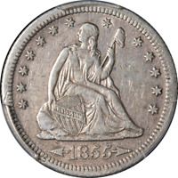 1855-S Seated Liberty Quarter PCGS VF Details Nice Eye Appeal Nice Strike