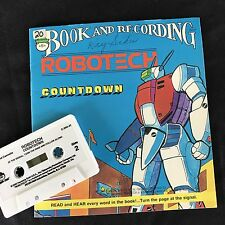 ROBOTECH Book & Cassette COUNTDOWN Captain Gioval Peter Pan 1985 Revell Inc USA