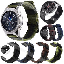 Quick Release Woven Nylon Canvas Fabric Watch Band Strap Black Buckle 20mm 22mm