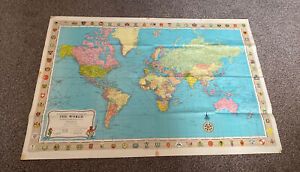 """Large 1969 Stanfords General Map Of The World On Mercator's Projection 41"""" X 28"""""""