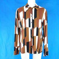 Drykorn Damen Bluse Tunika Shirt Oberteil Vanja Muster Reine Viskose Np 130 Neu
