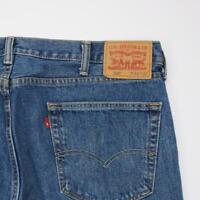 LEVI STRAUSS 505 Reg Fit Straight Leg Jeans Medium Wash Denim Mens 40x32