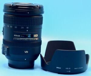 Nikon NIKKOR AF-S DX 18-200mm F/3.5-5.6G ED VR II Lens Exc+++++W/Caps & Hood