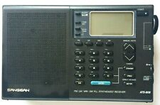 SANGEAN MULTI WORLD BAND SYNTHESIZED RECEIVER ATS-808 PORTABLE RADIO & CASE
