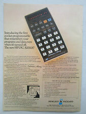 8/1976 PUB HP HEWLETT PACKARD HP-25C SCIENTIFIC CALCULATOR CALCULATRICE AD