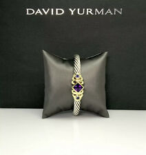 1,800 David Yurman 925 & 14k Gold Renaissance Cuff Bracelet-Medium DY510