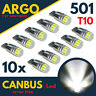 FITS FORD 501 LED SUPER XENON WHITE SIDE LIGHT BULB CANBUS ERROR FREE T10 W5W
