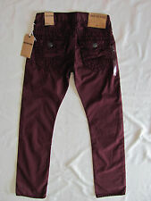 True Religion Ricky Super T Relaxed Straight Leg Jeans-Bordeaux-Size 28-NWT-$298