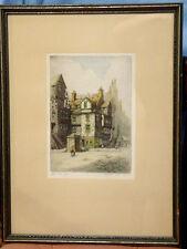 ORIGINAL ETCHING BY ARTIST R. HERDMAN-SMITH, JOHN KNOX HOUSE EDINBURGH