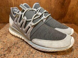 DS Adidas Tubular Radial Charcoal Solid Grey/Solid Grey/Granite AQ6726 Size 13