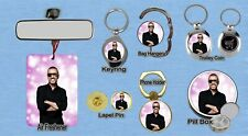 GEORGE MICHAEL KEYRING FRIDGE MAGNET PURSE BOTTLE OPENER TROLLEY