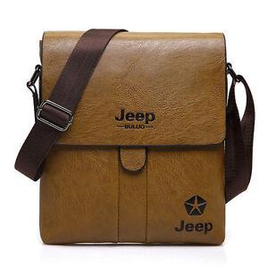 Men's Messenger Bag Leather Vintage Shoulder Crossbody Work Business Travel Bags
