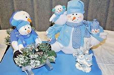 Snowmen Family Collection: Figurine, Sledding and Singing & Mom with Babies X628