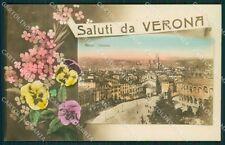 Verona Città Saluti da Foto cartolina QK7393